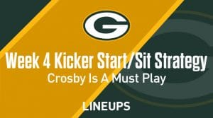 Week 4 K Start, Sit: Who to Play at Kicker: Mason Crosby to Dominate Against the Falcons