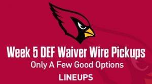 Week 5 Defense (DEF/DST) Waiver Wire Pickups: Only A Few Good Options