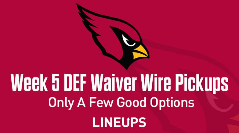 Week 5 Defense Def Dst Waiver Wire Pickups Only A Few Good Options