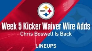 Week 5 Kicker Waiver Wire Pickups & Adds: Chris Boswell is Back