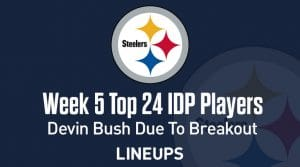 Top 24 Defensive Players (IDP) Rankings For Week 5: Devin Bush Is In Store For A Breakout Week