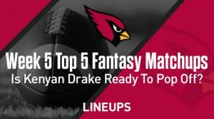 Top Five Fantasy Football Matchups for Week Five: Is Kenyan Drake ready to pop off?