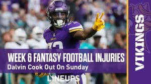 Week 6 Fantasy Football Notable Injuries: Dalvin Cook out for Sunday