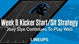 Week 6 K Start, Sit: Who to Play at Kicker: Joey Slye to Continue Strong Stretch Against the Bears