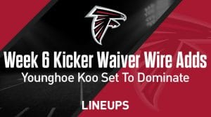 Week 6 Kicker Waiver Wire Pickups & Adds: Younghoe Koo Set To Dominate