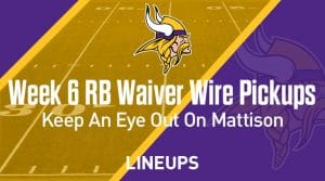 Week 6 RB Waiver Pickups & Adds: Keeping An Eye On Alexander Mattison