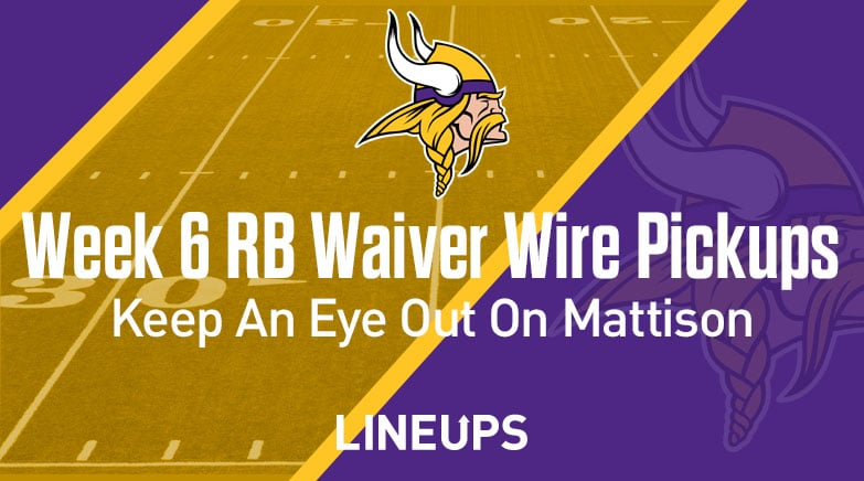 week 6 rb waiver wire