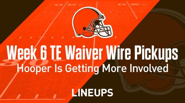week 6 te waiver wire