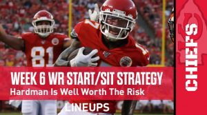 Week 6 WR Start, Sit Fantasy Strategy: Mecole Hardman Is Well Worth The Risk