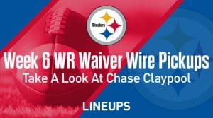 Week 6 WR Waiver Pickups & Adds: Cool Chase Claypool