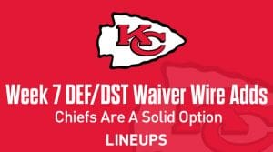 Week 7 Defense (DEF/DST) Waiver Wire Pickups: Chiefs Are A Solid Option