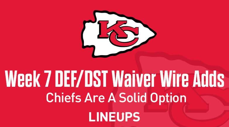 Week 7 Defense Def Dst Waiver Wire Pickups Chiefs Are A Solid Option