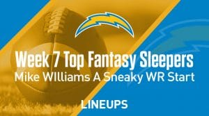 Fantasy Sleepers Week 7: Mike Williams A Sneaky WR Start