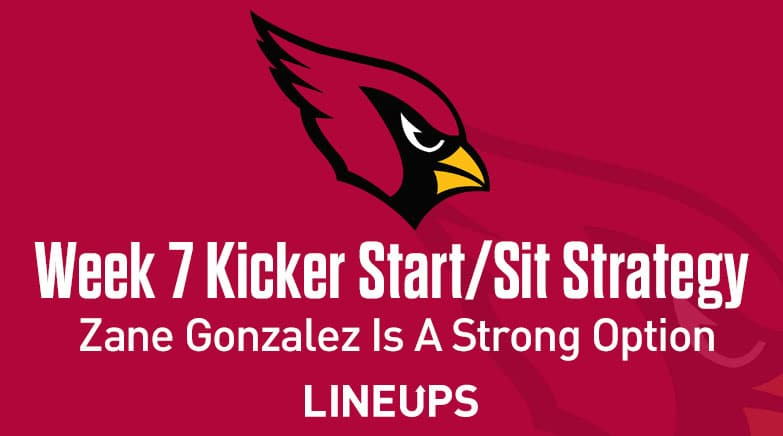 week 7 kicker start sit