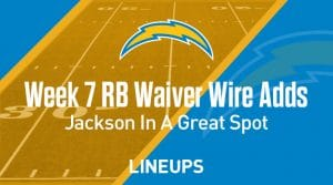 Week 7 RB Waiver Pickups & Adds: Justin Jackson In Great Spot For Next Few Weeks