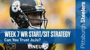 Week 7 WR Start, Sit Fantasy Strategy: Can You Trust JuJu Smith-Schuster?