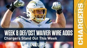 Week 8 Defense (DEF/DST) Waiver Wire Pickups: Chargers Stand Out