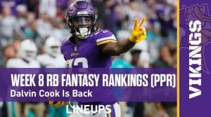 Week 8 RB Fantasy Rankings PPR: Dalvin to Cook the Competition in His Return