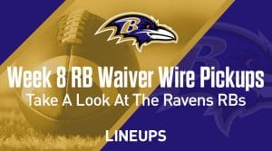 Week 8 RB Waiver Pickups & Adds: Are The Baltimore Backup Running Backs In Play?