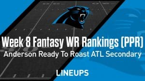 Week 8 WR Rankings & Projections (PPR): Robby Anderson Ready To Roast Atlanta Secondary