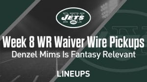 Week 8 WR Waiver Pickups & Adds: Denzel Mims is Fantasy Relevant
