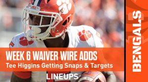 Week 6 Waiver Wire Top Pickups & Adds: Is Chase Claypool For Real?