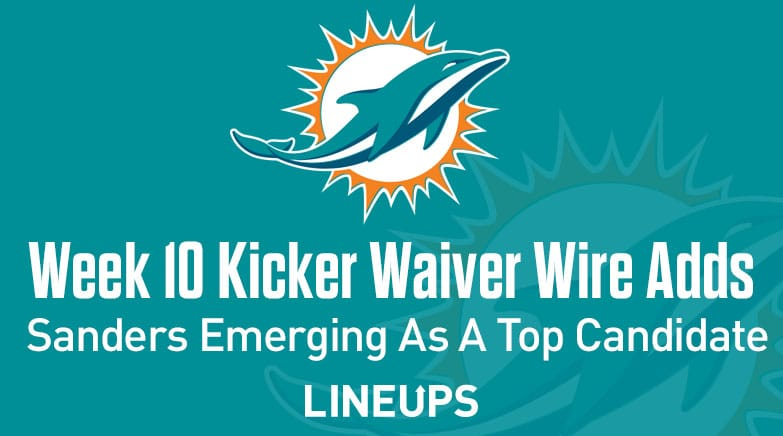 week 10 kicker waiver wire