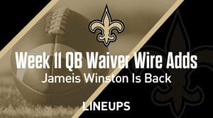 Week 11 QB Waiver Wire Pickups & Adds: The Return of Famous Jameis