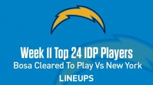 Top 24 Defensive Players (IDP) Rankings For Week 11: Joey Bosa Cleared To Play Vs The Jets