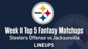 Top 5 Fantasy Football Matchups Week 11 (PPR): Steelers' offense bound to put up points