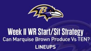 Week 11 WR Start, Sit Fantasy Strategy: Can Marquise Brown Capitalize On Tennessee Matchup?