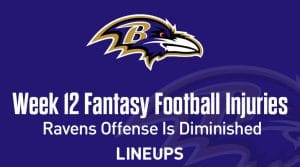 Week 12 Fantasy Football Notable Injuries: Ravens offense is diminished