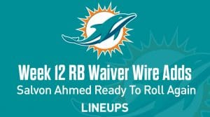 Week 12 RB Waiver Pickups & Adds: Salvon Ahmed Ready To Roll Again If Gaskin's Out