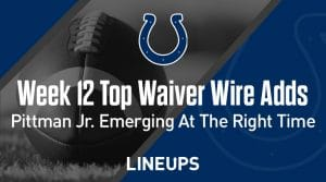 Week 12 Waiver Wire Top Pickups & Adds: Michael Pittman Jr. Emerging At The Right Time