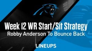 Week 12 WR Start, Sit Fantasy Strategy: Robby Anderson To Bounce Back