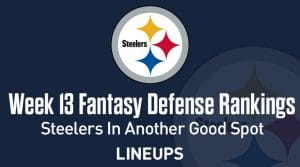 Week 13 NFL Defense (DEF) Fantasy Football Rankings: Dolphins To Continue Their Hot Play