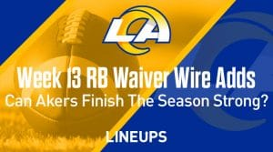 Week 13 RB Waiver Pickups & Adds: Can Cam Akers Finish The Season Strong?
