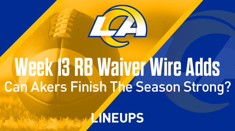 week 13 rb waiver wire