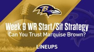 Week 9 WR Start, Sit Fantasy Strategy: Can You Trust Marquise Brown?