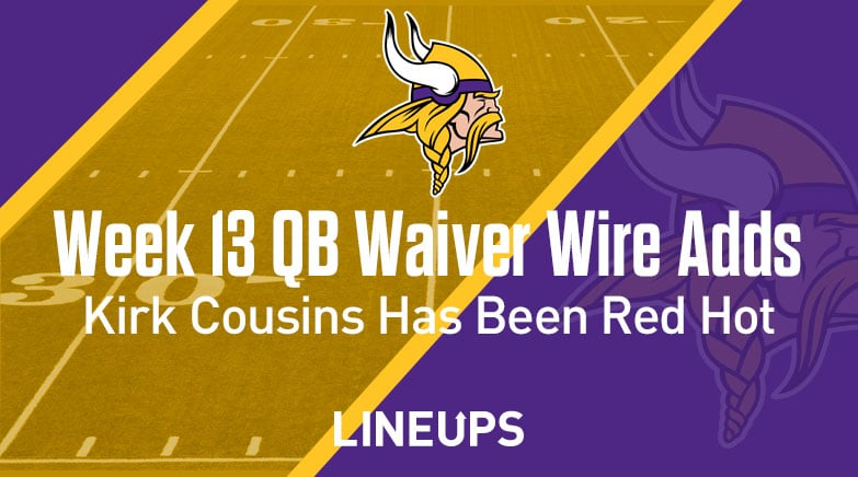 week 13 qb waiver wire