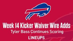 Week 14 Kicker Waiver Wire Pickups & Adds: Tyler Bass Continues Scoring
