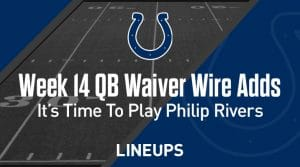 Week 14 QB Waiver Wire Pickups & Adds: It's Time To Play Philip Rivers
