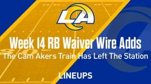 Week 14 RB Waiver Pickups & Adds: The Cam Akers Train Has Left The Station