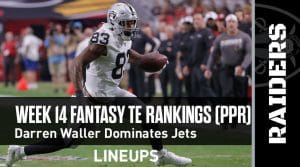 Week 14 Fantasy Football Tight End Rankings (PPR): Darren Waller explodes against the Jets