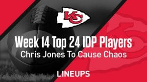 Top 24 Defensive Players (IDP) Rankings For Week 14: Chris Jones To Cause Chaos Against Miami