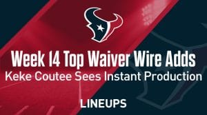 Week 14 Waiver Wire Top Pickups & Adds: Keke Coutee Sees Instant Production In Wake Of Fuller Suspension
