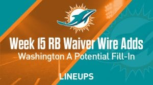 Week 15 RB Waiver Pickups & Adds: Deandre Washington Potential Fill-In Vs Patriots