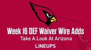 Week 16 Defense (DEF/DST) Waiver Wire Pickups: Washington's Defense Is Rolling