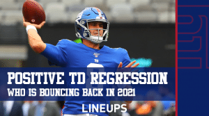 2021 Fantasy Football – Players Due For Positive Touchdown Regression